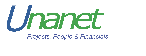 Projects, People & Unanet logo - Financials Tagline
